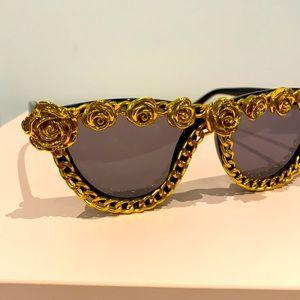 Gold Flower Sunglasses - Adult size